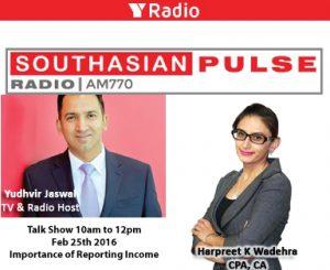 Harpreet Wadehra on South Asian Pulse
