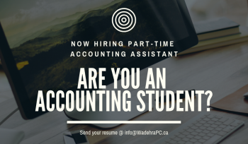 Now hiring part-time accounting assistant